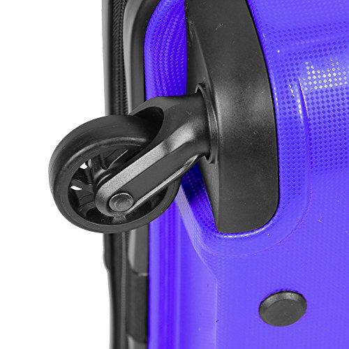 Valigia, trolley, borsa da viaggio, bagaglio a mano. Rivestimento resistente, 40L, Grandezza M violett