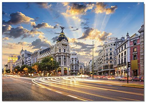 Panorama Póster Gran Via Madrid 70 x 50 cm   Impreso