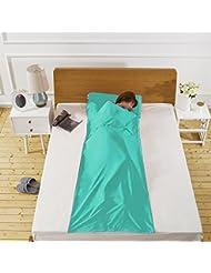 Maple&Home Sporty Blue Met – Saco de Dormir para Adulto, sábana de Viaje Suave,