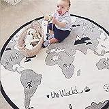 NEW SLIPPE Alfombra de Alfombra para Juegos Infantiles Alfombra, Juego de mapas del Mundo, Alfombra para Decorar la habitación de los niños, colchoneta para bebés, cojín para bebés