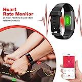 Kilponen Fitness Tracker with Heart Monitor - Smart Watch Fitness Wristband Blood Pressure Bracelet Activity Tracker Waterproof IP67 with Stopwatch, GPS, Pedometer, Step Counter for Kids Women Men