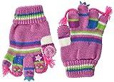 Döll Baby-Mädchen Fingerhandschuhe Strick Handschuhe, Rot (Cyclamen 2102), 2