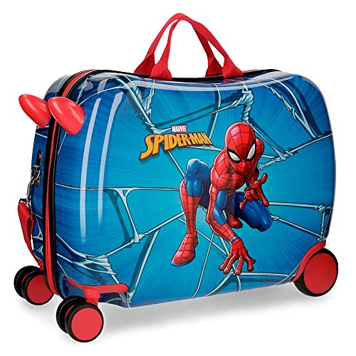 Maleta correpasillos con ruedas multidireccionales Spiderman Black