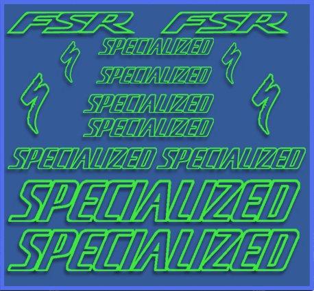 PEGATINAS SPECIAL FSR DR1075 VINILO ADESIVI DECAL AUFKLEBER MTB STICKERS BIKE VERDE