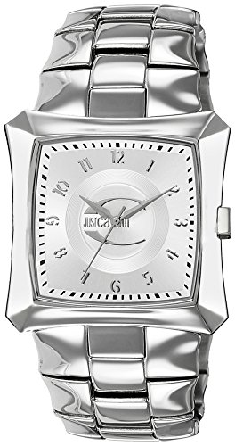 Just Cavalli Men's Watch R7253106015 In Collection Blade with 3 H and S, White Dial and Stainless Steel Bracelet