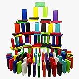 CentBest-Domino-Kinder-Domino-Rally-Holzspielzeug-12-Farbe-Rennspiele-Kind-pdagogische-Spiele-Toys-120-PC