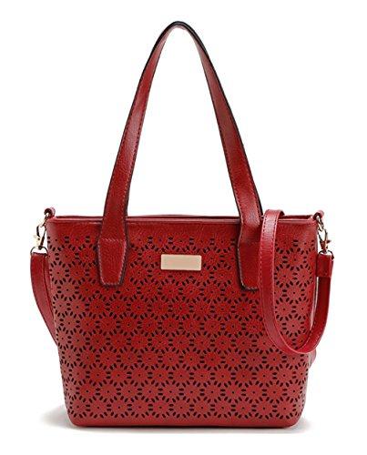 Borse Donna Keshi New Style, Borse Hobo, Tracolle, Buste, Borse Secchiello, Borse Moda, Velluto, Pelle Scamosciata, Pelle Scamosciata, Borsa Rossa