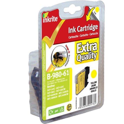Inkrite Tintenpatrone für Brother Dcp145c Dcp165c, Lc61, Lc65 Lc1100 Lc980 (bumblebee, ngsby 980-61u - Lc61 Tintenpatronen Brother