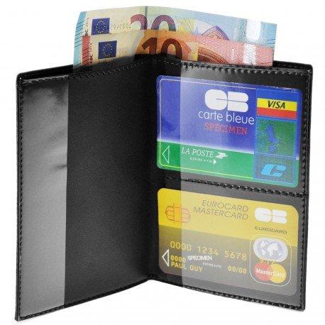 Charmoni Portefeuille Etui à Passeport Protège Porte Passeport Carte Crédit Neuf Pls