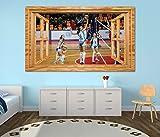 3D Wandtattoo Volleyball Spiel Frauen Turnier Fenster Wandbild Tattoo Wohnzimmer Wand Aufkleber 11L1920, Wandbild Größe F:ca. 162cmx97cm