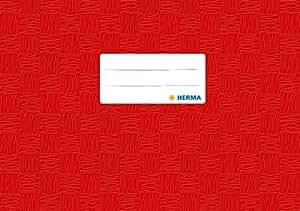 HERMA Protège cahier A5 à l'italienne Rouge