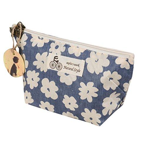Beauty Case, Culater® caso di trucco borsa da viaggio portatile cosmetico sacchetto della toilette Wash Organizer (Blue)
