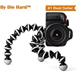 "Die Hard™, [ Gorilla Tripod 10"" ] Fully Flexible Foldable Octopus Mini Tripod Stand (Big 10 Inch Height) For Mobile Camera, DSLR, Smartphone & Action Cameras 