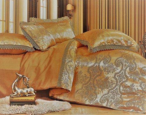 4 - teiliges Luxus Bambus schimmernden Glanz Jacquard Bettwäsche Set 220x200