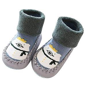 Baby Mädchen Junge Kleidung Cartoon Tier Anti-Rutsch-Schuhe gestrickte warme Socken