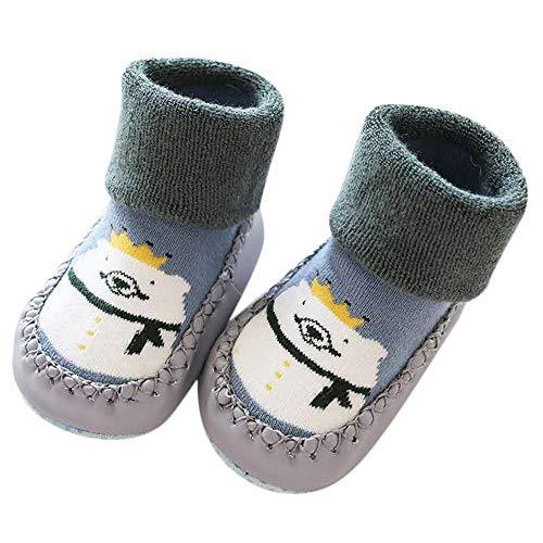TPulling Baby Mädchen Junge Kleidung Cartoon Tier Anti-Rutsch-Schuhe gestrickte warme ()