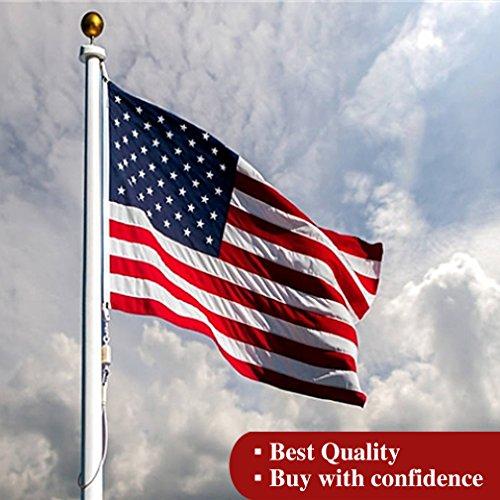 usamerican Flagge 3x 150Eingestickte Sterne und Streifen Tüllen Messing Langlebig und Wasserdicht Oxford Nylon Flagge Garten Outdoor Innen Haus Flagge