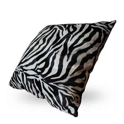 Kissenbezug 2er Pack mit Reißverschluss I Exclusive Tiermuster 100x100 stylische Zierkissenhülle I Kissenhülle I Dekokissen I Kissen Zebra-Muster -