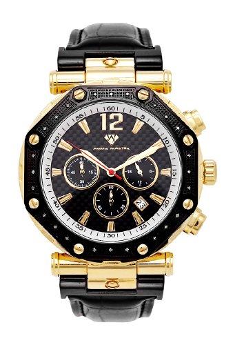 NEU. Aqua Master Herren Armbanduhr Bicolor Octagon 24-Diamond (Watch Master Aqua Diamond)