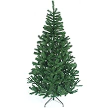 shatchi Gift 4 All Occasions 1.5m 5ft Christmas Tree GREEN Artificial Tree 390 Tips with Metal Stand