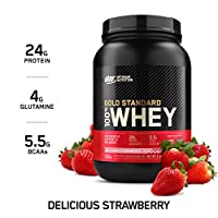 Optimum Nutrition Gold Standard 100% Whey Protein Isolate Powder, Delicious Strawberry, 2.07 Lbs, 29 Servings