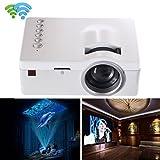 Tongshi 1080P HD LED Multimedia Home Centro de Cine VGA de TV USB y HDMI mini proyector(blanco)