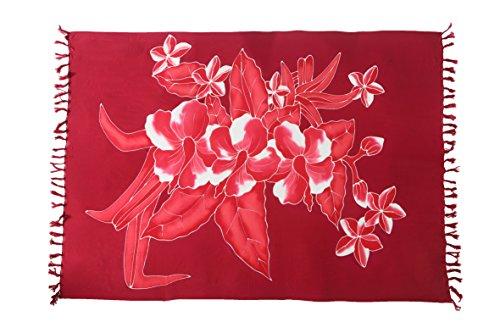 Großer Sarong Ca 170cm x110cm Pareo Wickelrock Wickeltuch Badeunterlage Saunatuch Schal Loop Wickeltuch Wickelkleid Blumen Muster Vintage Look (Muster Damen Pareo Sarong)