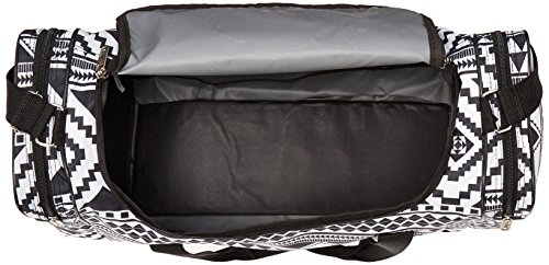 5Cities leicht Hand Gepäck Cabin Größe Sport Duffle Holdall, schwarz (Schwarz) - HOLD602 BLACK Aztec Schwarz / Weiß