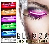 glamza LED Light Up falsas pestañas luminoso Fashion Lashes Par falsos ojos Lash parte