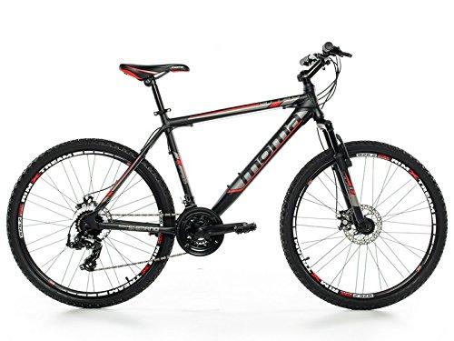 """Bicicletta Montagna Mountainbike 26"""" BTT SHIMANO, doppio disco e sospensione (L (1,70-1,179m))"""