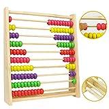 Abaco Verticale in Legno Matematica Gioco Regalo per Bambini con 100 Palline Colorate
