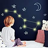 Leuchtende Sterne von ENNO VATTI - 330 Leuchtpunkte für Sternenhimmel, Sternesticker mit extra stark Leuchtkraft - Fluoreszirende Wandsticker, Leuchtaufkleber für Kinderzimmer, Schlafzimmer, Wände & Decken