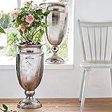 Bodenvase Amphore Colombo - Vase - Aluminium - Silber - Höhe ca. 66 cm