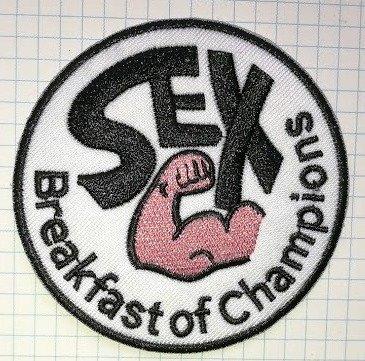 Sex Breakfast of Champions bestickt Tuch Eisen auf Patch