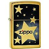 Zippo 60001080 Stars Briquet Laiton Brossé 3,5 x 1 x 5,5 cm