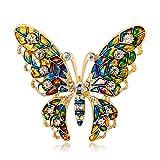 Emorias 1 Stück Brosche für Damen Schmetterling Elegante Kleidung Dekoration Mädchen Modeschmuck Kleid Pin Party Geschenk Mode Schmuck Accessoires