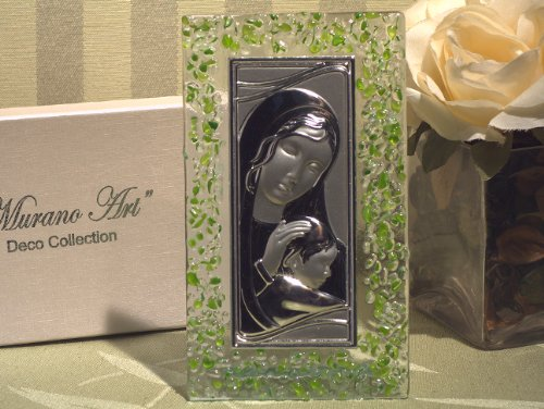 Sole Favours Murano Art Deco Collection Rechteckige Glas-Ikone -