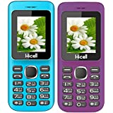 Hicell C5 (Combo Of Two MOBILES) Dual Sim Mobile Phone With Digital Camera And 1.8 Inch Screen (Blueblack+VoiletBlack)