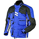 Stilvolle blau Motorradjacke textilien Motorrad Jacke Cordura Motorcycle Jacket, M, Blau