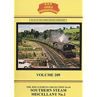 B&R Volume 209 Dvd - Southern Steam Miscellany No. 1