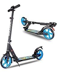 BAYTTER® Cityroller Scooter für Erwachsene Kinder ab 12 Jahre, mit zwei Dämpfungssystemen ausgestattet