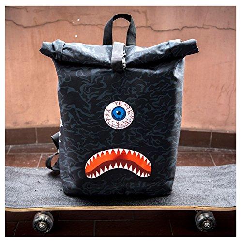 Kukubird Primavera/Estate Design Courier Escursionismo Palestra Scuola Messenger Zaino Monster Camo