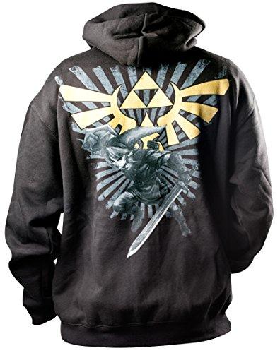 Preisvergleich Produktbild Nintendo Hoodie -L- Zelda, schwarz/gold