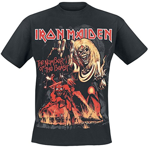 Iron Maiden Number Of The Beast Graphic T-Shirt schwarz L (Iron Maiden-t-shirt)