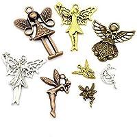 - Paket 20 x Antik Silber Tibetanische 20mm Charms Anh/änger ZX11620 Engel - Charming Beads