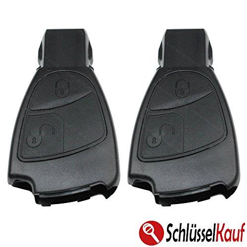 2 Stück MERCEDES BENZ 2 Tasten Auto Schlüssel Ersatz Gehäuse W169 W245 S202 S203 Neu
