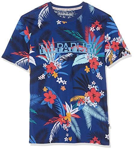 Napapijri Herren SELLARY Fantasy T-Shirt, Mehrfarbig F21, Large (Herstellergröße: L)