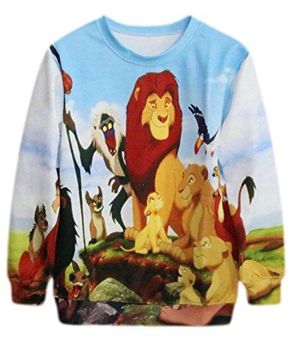 Preisvergleich Produktbild erdbeerloft - Mädchen Schöner Sweater mit König der Löwen Print,  langarm,  M,  Mehrfarbig
