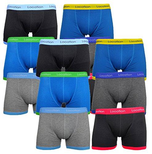 12 Paquete Hombres Ubicación calzoncillos De Regalo De Ropa Interior calzoncillos De Algodón Novedad
