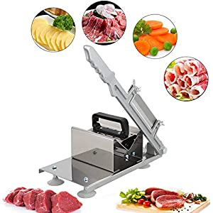 Fleischschneider Rostfreier Stahl Justierbarer manueller gefrorener Fleisch-Slicer-Schneider-Rindfleisch Hammelfleisch-Blatt-Schneidemaschine Rollenfleisch Fleisch-Käse-Lebensmittel-Schneidemaschine